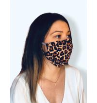 Masque protection covid 19 Léopard tons foncés