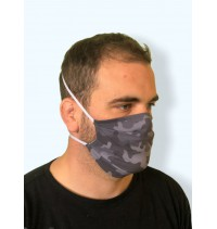 Masque protection covid 19 Camouflage gris