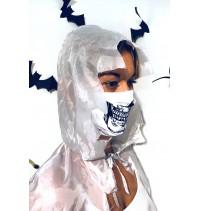 Masque protection covid 19 Crâne blanc
