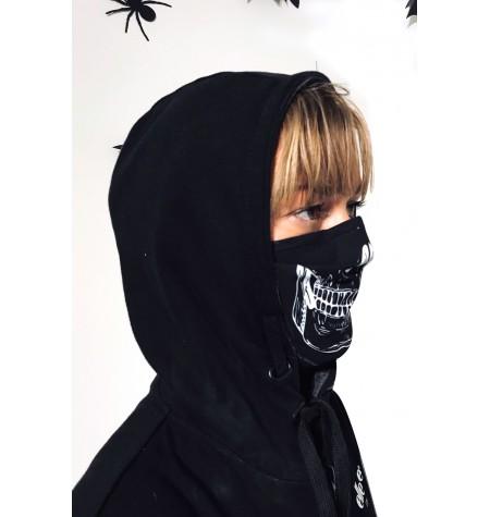 Masque protection covid 19 Crâne noir