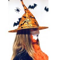 Masque protection covid 19 Crâne orange