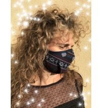 Masque protection covid 19 Noël Tricot