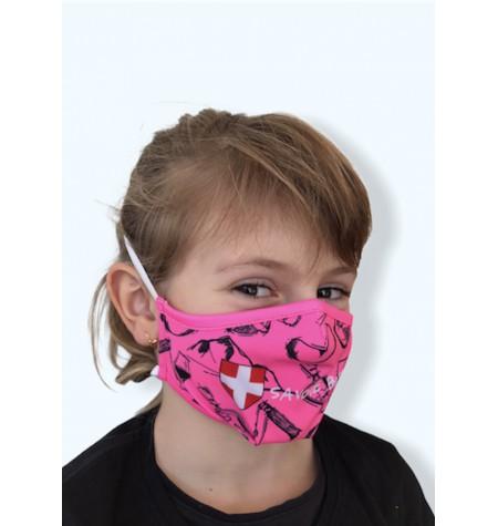 Masque Enfant Savoie bien rose