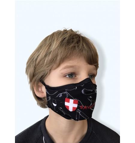 Masque Enfant Savoie bien noir