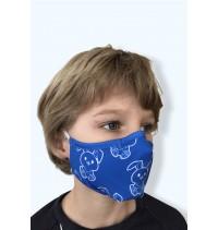 Masque protection covid 19 Petits Lapins bleus