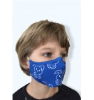 Masque protection covid 19 Petits Lapins bleus