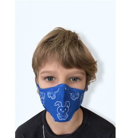 Masque Enfant Petits Lapins bleus